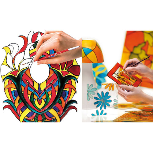 Vitrail glass and metal paint creative leisure Pébéo