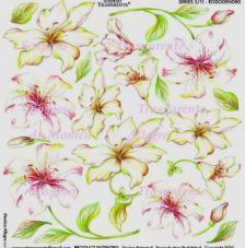 Sospeso transparente predisenyat Rododendro  23x23 cm