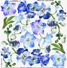 Sospeso transparente predesigned  Blue Flower 23x23 cm