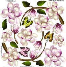 Sospeso transparent predisenyat  Magnolia Botany 23x23 cm