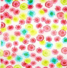 Tissu Flowers 2 rollo 30cmx5m