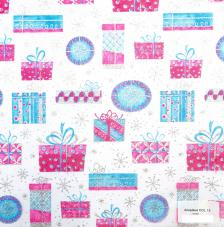 Tissu Amadeus 15 roll 30cmx5m - Blue and pink