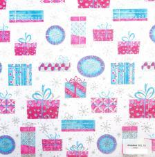 Tissu Amadeus 15 rollo 30cmx5m - Azul y rosa