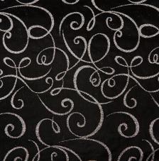 Tissu Michel Angel 12 rollo 30cmx5m - negro y plata