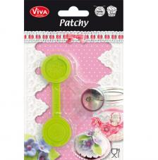Patchy Button Middle 9,5cm