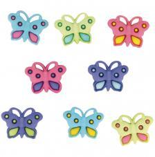 Set 8 botones mariposas