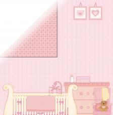 Papel doble cara 30,5 x 30,5 cm. Sweet Baby Girl-Room