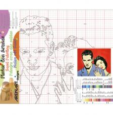 Paul & Liz. 50x61 cm