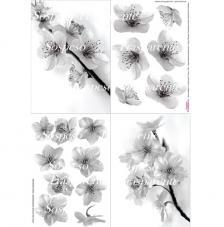 Paper decoupage flor ametller 35x50 cm