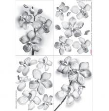 Papel decoupage orquidea 35x50 cm
