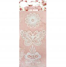 3 encajes ganchillo mariposas y flores