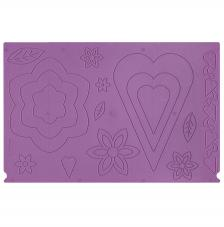 Plantilla per pleglar 2 cares. Caixes Flor, cor