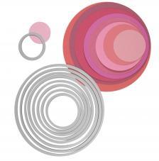 Troquel Framelit Sizzix. 8 círculos