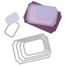 Troquel Framelit Sizzix. 5 rectangulos boletos