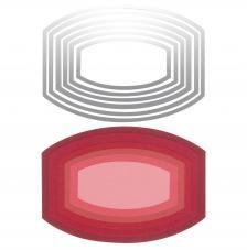 Troquel Framelit Sizzix. 6 etiqueta florida ovalo