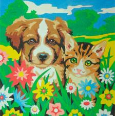 Friendly animals. 38x46cm