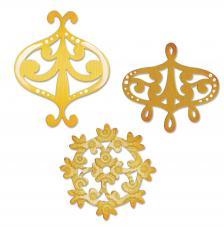 Troquel Sizzlits Sizzix. Conjunto de acento decorativo y corona de flores.