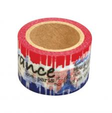 Washi Tape France 30mm rollo 15m