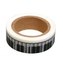 Washi Tape piano 15mm rollo 15m