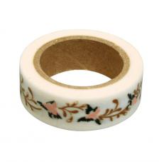 Washi Tape Flores 15mm rollo 15m