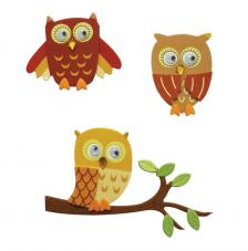 Deco stickers Buhos marron