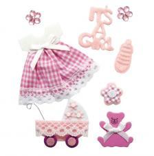 8 Deco stickers Baby Girl