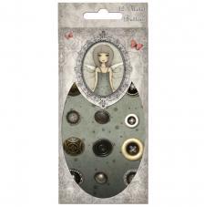 12 botones metálicos Santoro