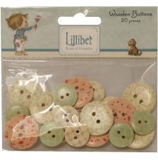 20 botones madera. Lilibet