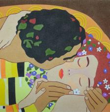 The kiss de Gustav Klimt. 38x46 cm