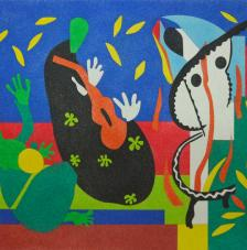 Sorrows of the king de Matisse. 38x46 cm