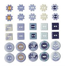 Set 30 botones metal Ø 2-2,5cm