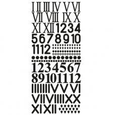 Surtido de números adhesivos. 1,8 cm