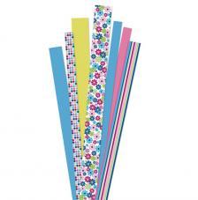 90 tiras papel quilling flores rosas 1, 1,5 y 2 cm. 80 gr