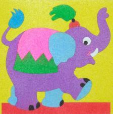 Elefantito. 20x20 cm Precortado