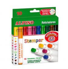 Estuche 10 rotuladores Stamper