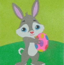 Conill de pascua. 20x18 cm pre-tallat