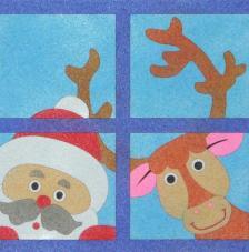 Ventana navidad. 20x18 cm precortado