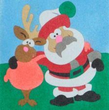 Amics de nadal. 20x18 cm pre-tallat