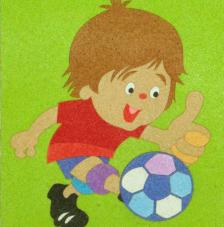 Niño futbol. 20x18 cm precortado
