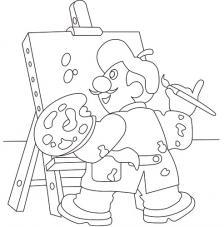 Pintor. 20x18 cm precortado