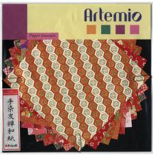 10 fulles paper japones 15x15 cm. Vermells