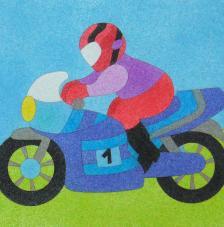 Motocicleta. 20x18 cm precortado