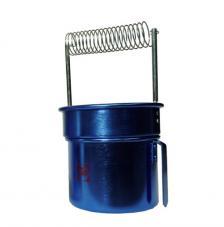 Lavapinceles doble aluminio azul