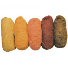 Surtido bolsa 5 fieltros de 20 gr. Marrones