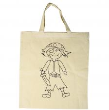 Bolsa de algodón beige pirata 38x42 cm