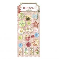 21 botones resina y cuero. Garden Journal