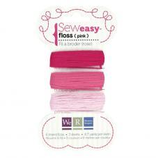 Hilos rosas para perforador Sew Easy. 24 m