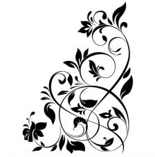 Rubber Stamp A6 Floral Swirl