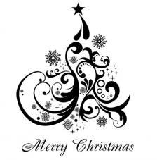 Sello de caucho A6 Arbol Navidad