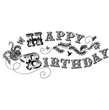Rubber Stamp A6 Happy Birthday